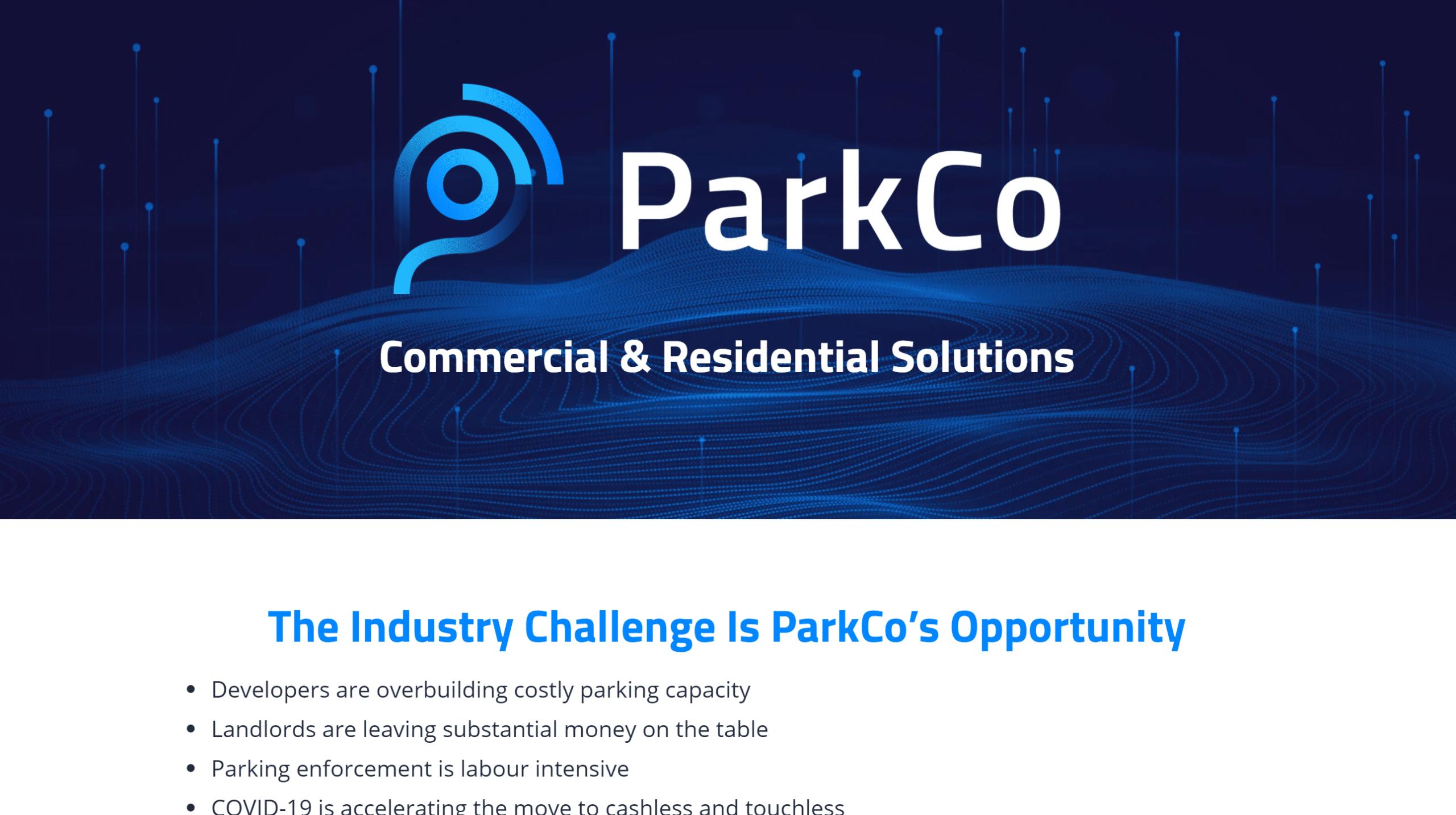 ParkCo page hero